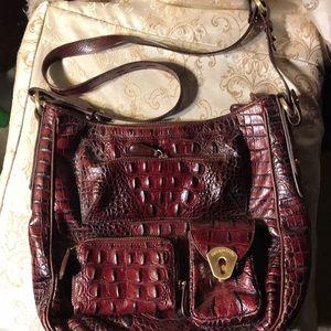 Brahmin crossbody croc style bag